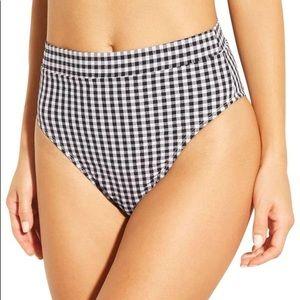 XHILARATION Gingham White/Black Bikini Bottom